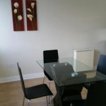 Glass Dining Room Table & Black Feature Chairs, Kilmainham